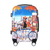 Colorful PC Full Printing Trolley Travel Luggage