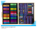 214 PCS Drawing Art Set in Wooden Box for Kids and Students