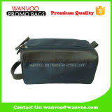 Black Men′s Travel Canvas Two Zipper Cosmetic Bag for Wholesale