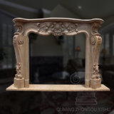 Hot Sale Simple Pattern Hand-Carved Classic Marble Fireplace Sculpture