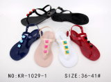 PVC Jelly Women Lady Crystal Slipper Sandal Shoes