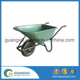 Customizable Kids′ Outdoor Toy Wheel Barrow Metal Wheelbarrow Green Color