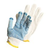 Single Side Dotted Cotton Working Hand Gloves