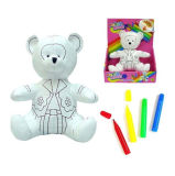 Dupon Fabric Reusable Coloured Teddy Bear Toy for Kids with 4c Air Erasable Pens