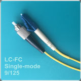 LC-FC Upc Single-Mode Fiber Optic Patch Cord