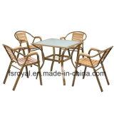 Metal Garden Outdoor Furniture Restaurant Aluminum Leisure Polywood Chair Table Set