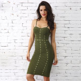 Womens Stud Bandage Dress with a Sleeveless Dress