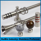 American Style Durable Contracted Style Stainless Steel Curtain Rod Pole Accessories