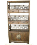 Chinese Antique Furniture Wooden Carved Display Shelf Lwa483