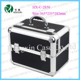 Aluminum Frame ABS Panel PVC Inside Cosmetic Cases