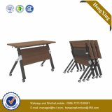 New Design Promotion Price Metal Antique Wooden Folding Table (UL-NM054)