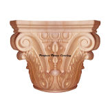Wood Carved Full Round Acanthus & Bell Capital Cap-Fr-03