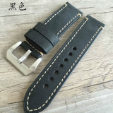 Thick 22 24 26mm Genuine Leather Watch Strap
