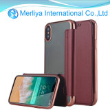 Card Slot TPU Flip Stand Leather Case for iPhone X