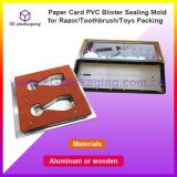 Paper Card PVC Blister Sealing Mold for Razor/Toothbrush/Toys Packing