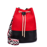 2018 Fashion Colorful Wide Strap Drawstring Lady Shoulder Bag