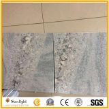 Natural Polished White Silk Granite with Crystal Line for Wall and Floor Tiles