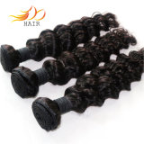 7A Deep Wave Indian Virgin Remy Human Hair Weaving
