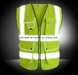 EU Standard High Visibility Reflective Safety Vest with Self Pouch