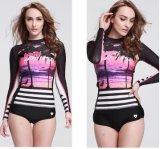 2016 Fashion Design Lady's Dial Printed Swimwear & Long Sleeve Sportwear