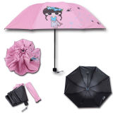 High Quality Printing Logo Give Away Carton Mini Foldable Umbrella