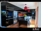 2015 New Welbom Double Open Fridge Black Kitchen Cabinets