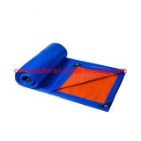Promotional Fire Resistant Blue Orange Waterproof Plastic PE Tarpaulins