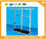 Silver 4 Way Stainless Steel Clothing Racks clothes Display Shelves