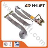 "2"" Logistic Tie Down Ratchet Tie Down Strap with E Track Fitting"
