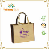 Custom Printed Gold PVC Mirror-Surface Leather Shopping Tote Bag Shiny