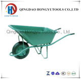 Plastic Tray Construction Function Wheelbarrow for Sale (WB6424S)