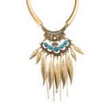 Vintage Tassels Women Fashion Necklace National Style Jewelry