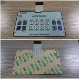 Pet Material Mat Embossing Surface Touch Keyboard for Machine Flow Meter Equipments