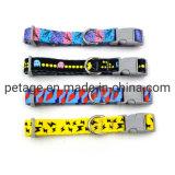 Printed Nylon Ribbon Pet Accessories Lead Dog Collar