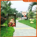 Custom Wholesale Outdoor Christmas Santa Claus and Christams Sign Garden Flag