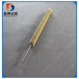 Crimped White Nylon/PP Coil Brush with Metal Grip