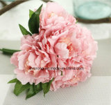 Fresh Touch Silk Penoy Flowers Silk Hydrangea and Peony Bouquet for Wholesale
