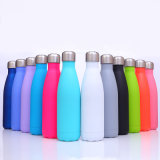 Rubber Frosted Bullet Double Stainless Steel Coke Water Bottle