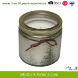 Pine Scent Glass Jar Candle for Christmas Festival