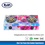 Tempered Glass Double Burner Tabletop Gas Cooker/Gas Stove