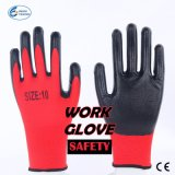 Nylon Durable Gloves, Household Safety Protective Nitrile Coated Work Glove