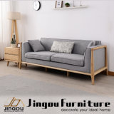 Modern Wood Home Furniture Wooden Frame Fabric Sofa Set for Living Room