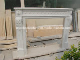 Factory Price White Marble Fireplace (SY-MF115)