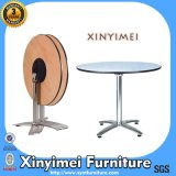 Promotion Price Metal Antique Wooden Folding Table (XYM-T92)