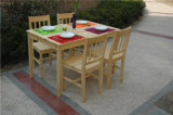 Solid Wood Dining Set One Table with Four Chairs Set (M-X1020)