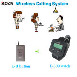 Hot Sell Watch K-300 Wireless Hospital Nurse Call Button K-B for Restaurant Hospital Clinic Wireless Paging System
