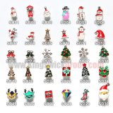 Christmas Nail Art Stickers 3D Alloy Nail Decorations for Halloween