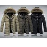 Men Winter Coat Black Thick Down Jacket Windproof Outer Wear
