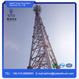 Three Legs Steel Lattice Pipe Microwave Telecommunication Tower Manufacturer