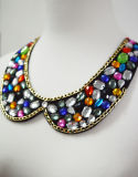 Colorful Crystal Noble Necklace, Neck Collar, Neck Line, Neck Trim
